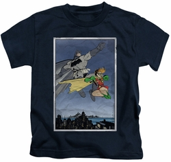 Batman kids t-shirt DKR Duo navy