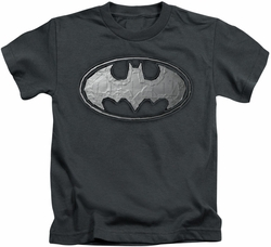 Batman kids t-shirt Duct Tape Logo charcoal