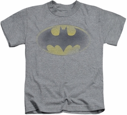 Batman kids t-shirt Faded Logo heather