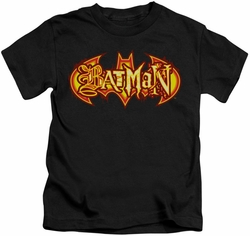 Batman kids t-shirt Fiery Shield black