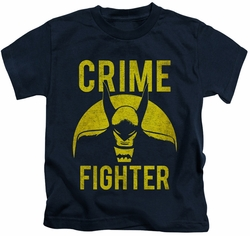 Batman kids t-shirt Fight Crime navy