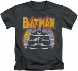 Batman kids t-shirt Foggy charcoal