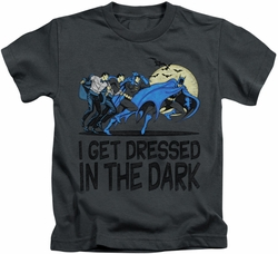 Batman kids t-shirt Get Dressed charcoal