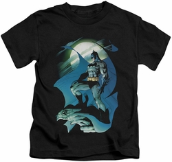 Batman kids t-shirt Glow Of The Moon black