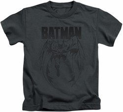 Batman kids t-shirt Grey Noise charcoal