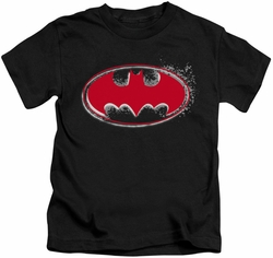 Batman kids t-shirt Hardcore Noir Bat Logo black