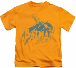 Batman kids t-shirt Here's Batman gold