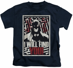 Batman kids t-shirt I Will Fnd You navy