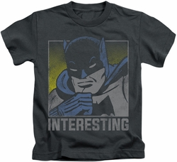 Batman kids t-shirt Interesting charcoal