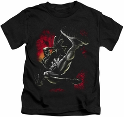 Batman kids t-shirt Kick Swing black