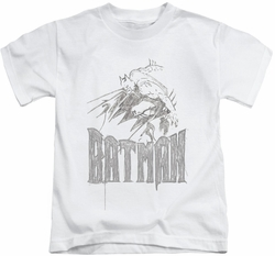 Batman kids t-shirt Knight Sketch white