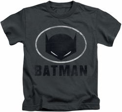 Batman kids t-shirt Mask In Oval charcoal