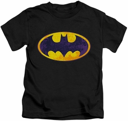 Batman kids t-shirt Neon Distress Logo black
