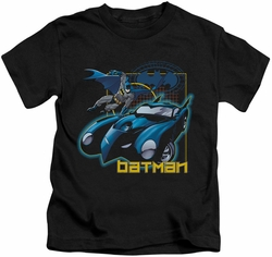 Batman kids t-shirt Nice Wheels black