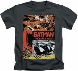 Batman kids t-shirt Old Movie Poster charcoal