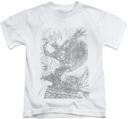 Batman kids t-shirt Pencil Batarang Throw white