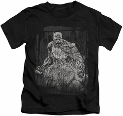 Batman kids t-shirt Pencilled Rain black