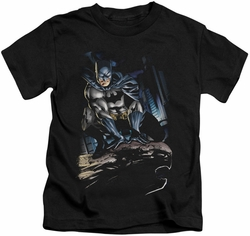 Batman kids t-shirt Perched black