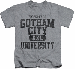 Batman kids t-shirt Property Of GCU heather
