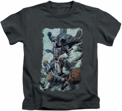 Batman kids t-shirt Punch charcoal