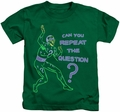 The Riddler kids t-shirt Repeat kelly green