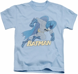 Batman kids t-shirt Running Retro light blue