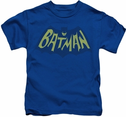 Batman kids t-shirt Show Bat Logo royal