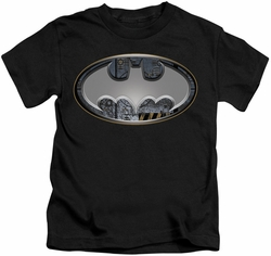 Batman kids t-shirt Steel Wall Shield black