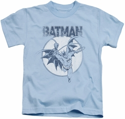 Batman kids t-shirt Swinging Bat light blue
