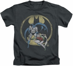 Batman kids t-shirt Team charcoal