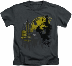 Batman kids t-shirt The Dark City charcoal