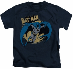 Batman kids t-shirt Through The Night navy