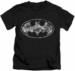 Batman kids t-shirt Urban Camo Shield black