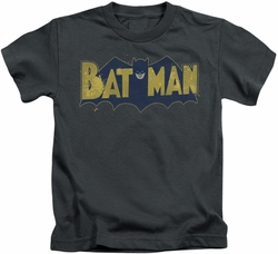 Batman kids t-shirt Vintage Logo Splatter charcoal