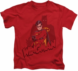 Batman kids t-shirt Wingman red
