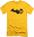 Batman Logo slim-fit t-shirt 75 Logo mens yellow