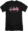 Batman Logo slim-fit t-shirt American Flag Oval mens black
