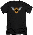 Batman Logo slim-fit t-shirt Bat Wings Logo mens black