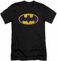 Batman Logo slim-fit t-shirt Bm Neon Distress Logo mens black