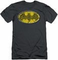 Batman Logo slim-fit t-shirt Celtic Shield mens charcoal