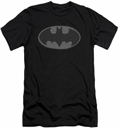 Batman Logo slim-fit t-shirt Chainmail Shield mens black