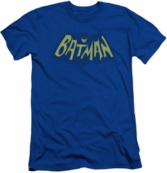 Batman Logo slim-fit t-shirt Classic 1966 Show Bat Logo mens royal