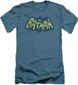 Batman Logo slim-fit t-shirt Classic 1966 Show Bat Logo mens slate