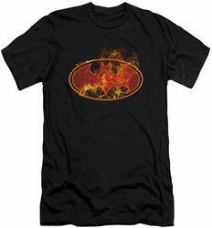 Batman Logo slim-fit t-shirt Flames Logo mens black