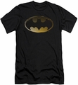 Batman Logo slim-fit t-shirt Halftone Bat mens black