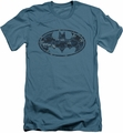 Batman Logo slim-fit t-shirt Navy Camo Shield mens slate
