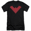 Batman Logo slim-fit t-shirt Nightwing Uniform 52 mens black