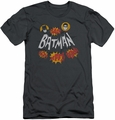 Batman Logo slim-fit t-shirt Sound Effects mens charcoal