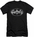 Batman Logo slim-fit t-shirt Urban Camo Shield mens black