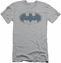 Batman Logo slim-fit t-shirt Water Sketch Signal mens silver